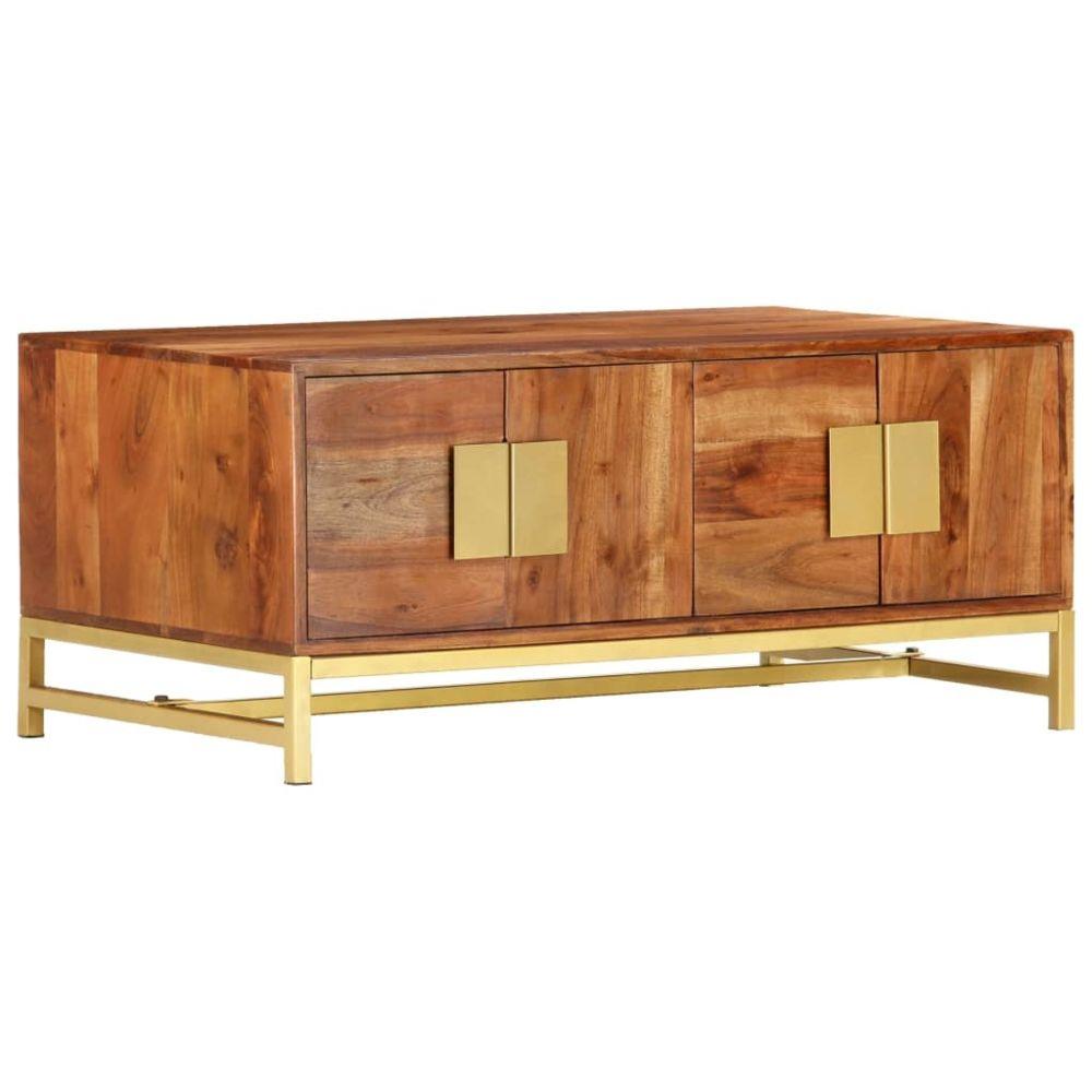 Vidaxl vidaXL Table basse 90x55x40 cm Bois d'acacia massif