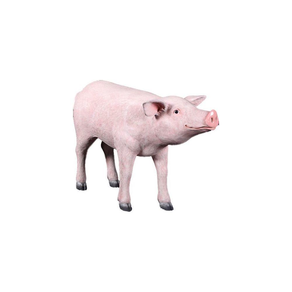 Texartes Cochon tête droite en résine 96 cm