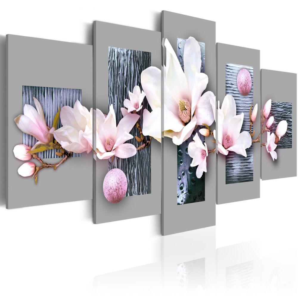 Bimago Tableau   Premier jour du printemps   100x50   Fleurs   Magnolias  