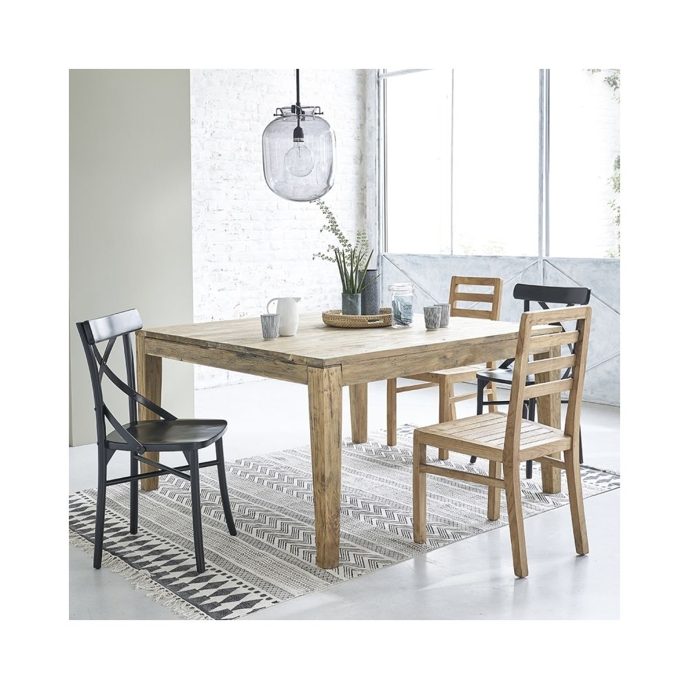 Bois Dessus Bois Dessous Table extensible en bois de teck recyclé 10 à 12 couverts
