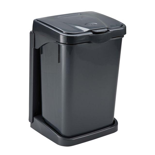 mondex  poubelle porte à seau  15 l  anthracite  pls