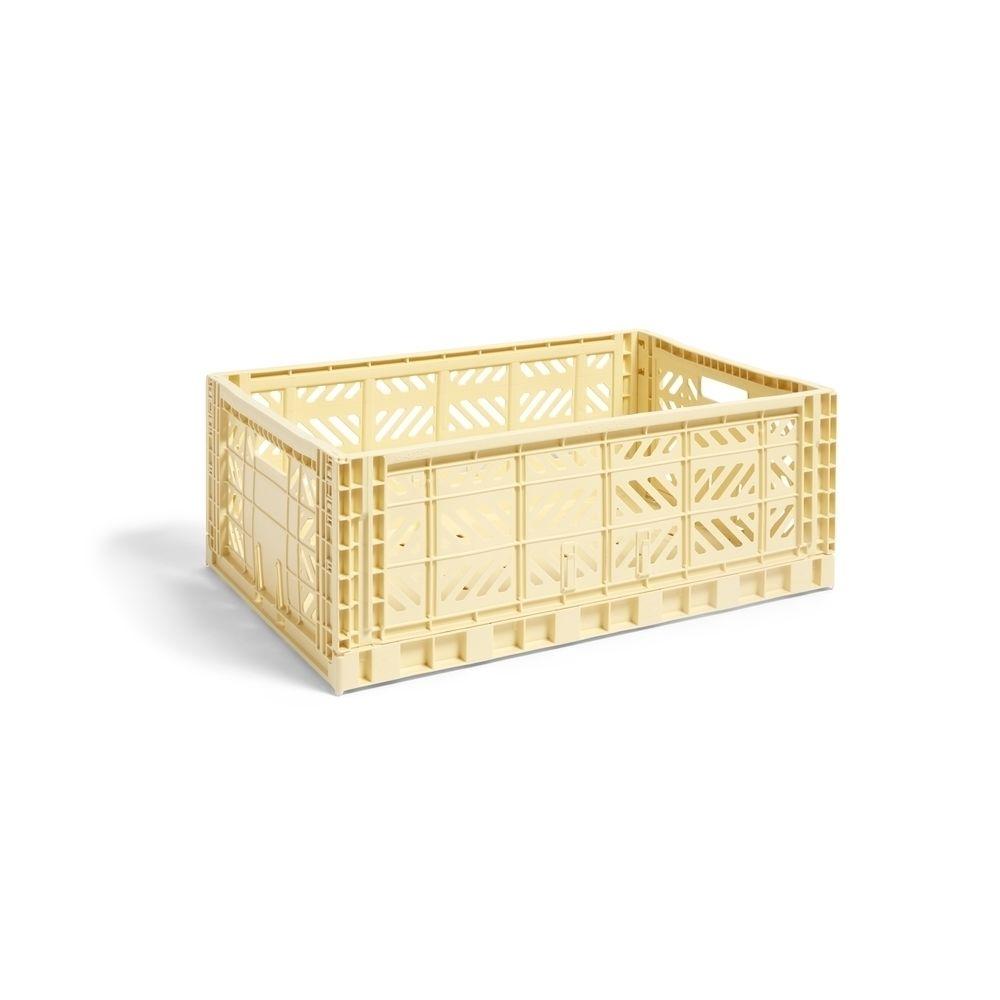 Hay Panier Colour Crate - jaune clair - L
