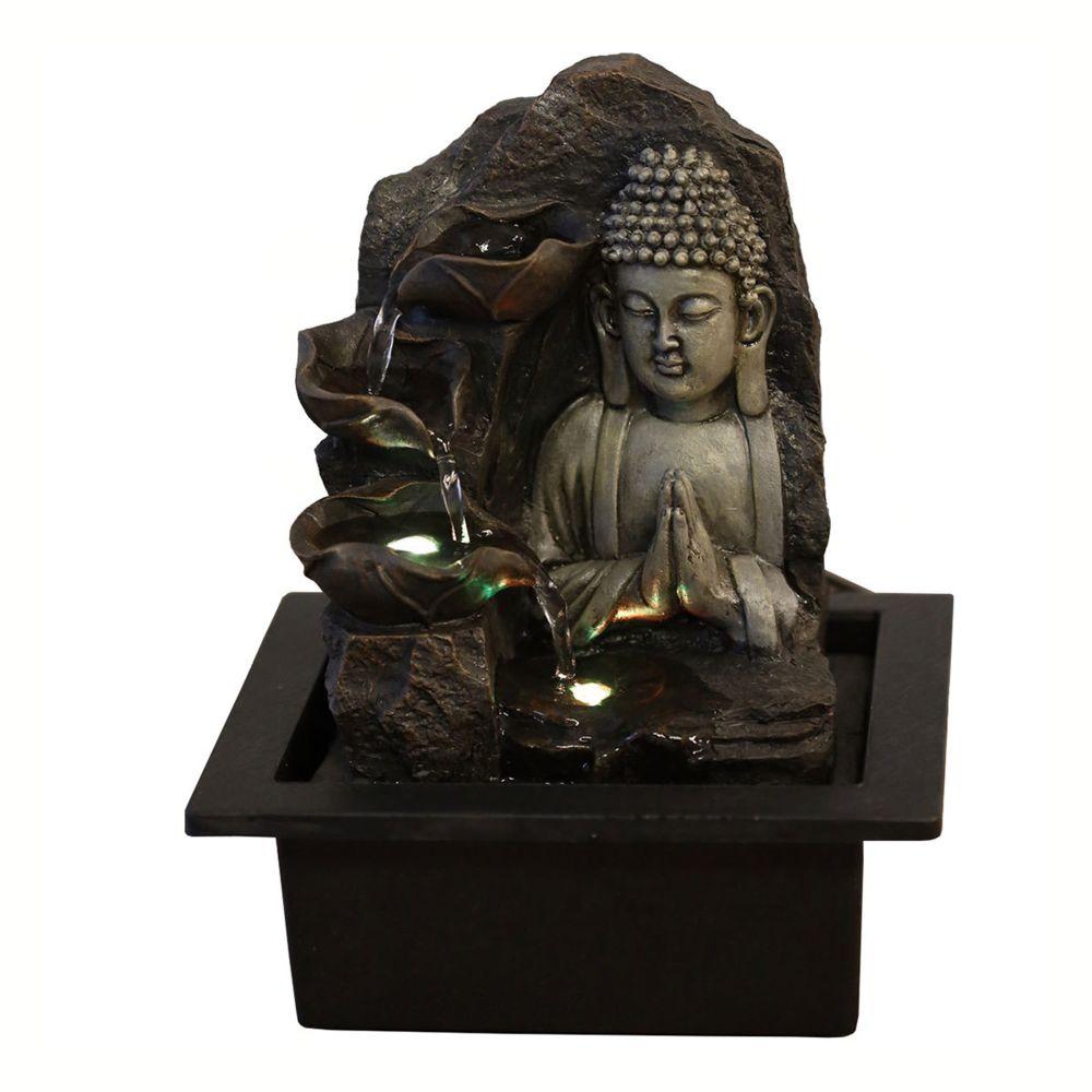 Sunchine Fontaine Intérieure en Résine Bouddha Spiritualité 26 cm