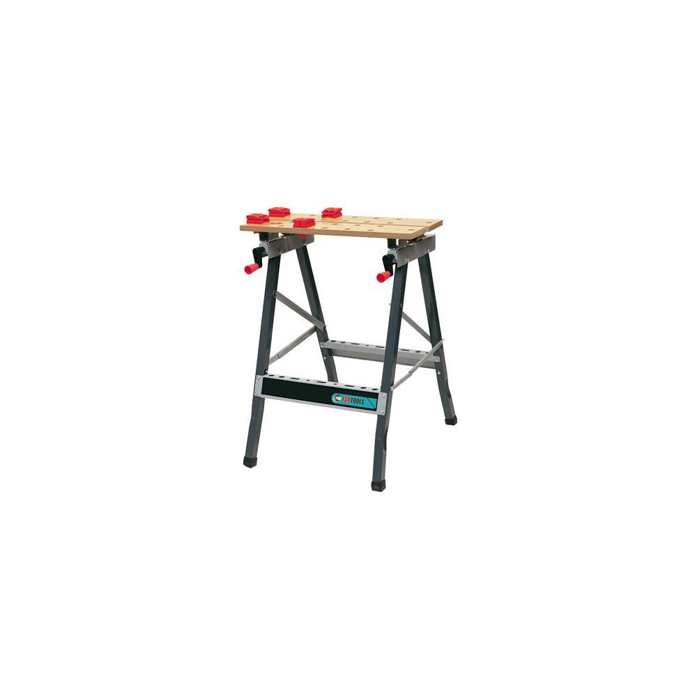 Fartools Etabli pliant bois-métal WB 100 - Compartiment range-outils