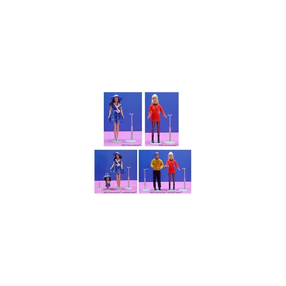 Kaiser Kaiser Doll Stand 2201 Box of 12 - White Doll Stands for 11 to 12 small-wa