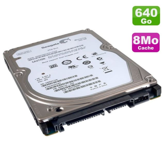 "Seagate - Disque Dur PC Portable 640Go SATA 2.5"""" Seagate Momentus ST9640320AS 5400RPM 8Mo - Disque Dur interne 2.5"""