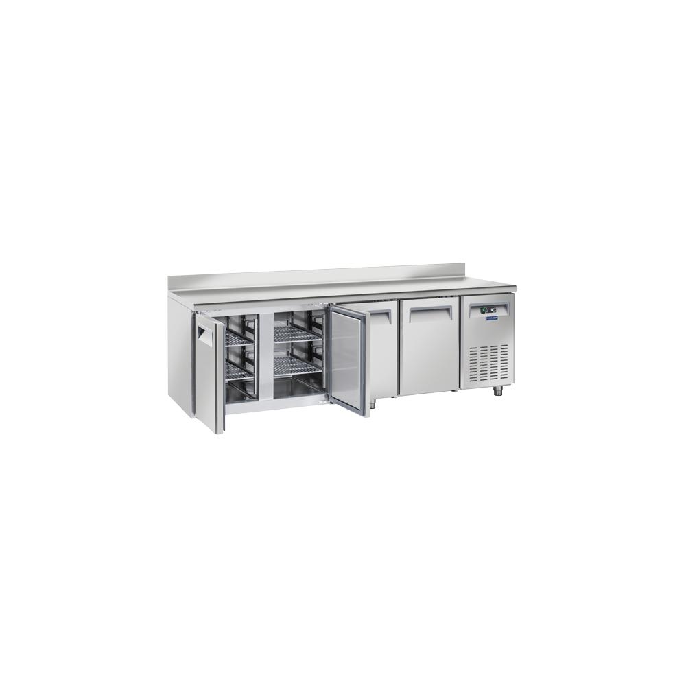 Materiel Chr Pro Table Réfrigérée Positive Profondeur 800 - 4 Portes avec Dosseret - Cool Head - R290A