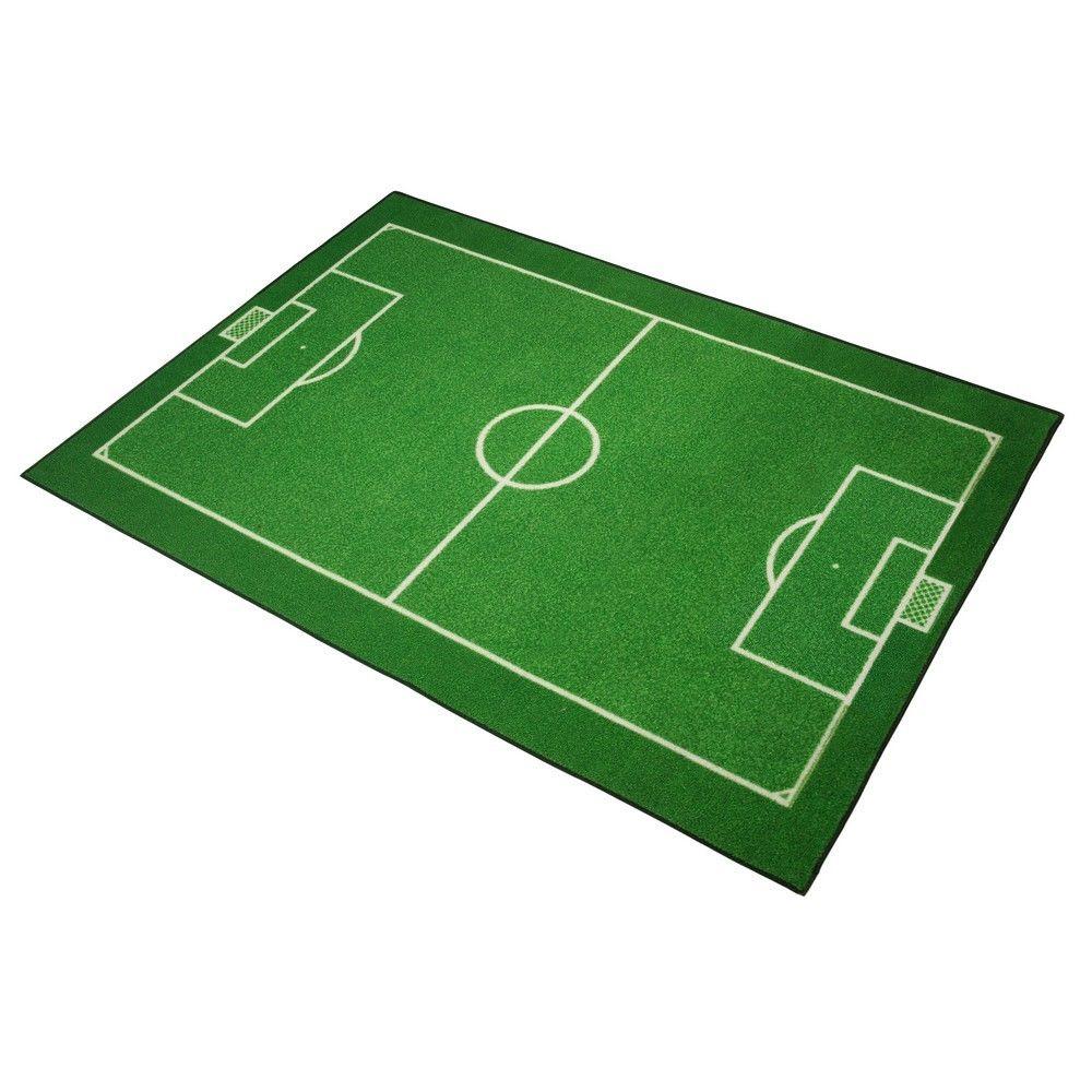 marque generique tapis enfant terrain de football 133 x 95 cm chambre foot