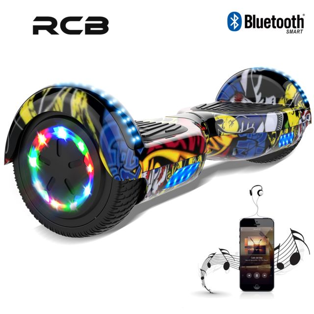 Rcb - Hoverboard 6.5 Pouces, Self Balance Scotter Electrique, Roues LED Light, Bluetooth, Moteur 700W - Gyropode, Hoverboard
