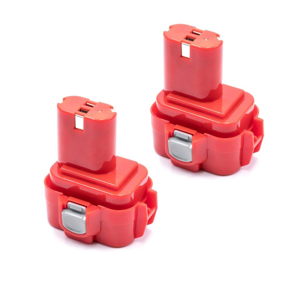 Vhbw vhbw 2x NiMH Batteries 3000mAh (9.6V) pour outils électroniques comme Makita 9100A, 9101, 9101A, 9102, 9102A