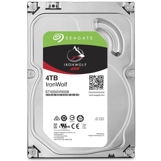 Seagate - IronWolf 4 To 3.5'' SATA III (6 Gb/s) Cache 64 Mo Seagate   - Disque Dur interne
