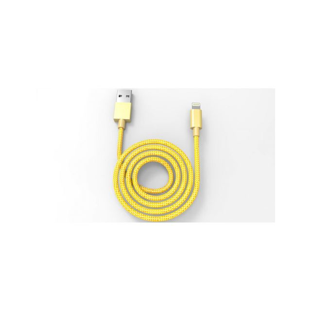 Muvit - Muvit Tab Cable Lightning Tresse Metal Mfi 2.4a 1m Or - Appcessoires Muvit