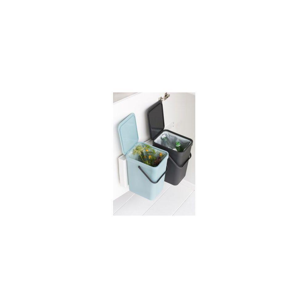 BRABANTIA Poubelle manuelle BRABANTIA Built-in Bin Sort & Go 2x16L Mint & Grey