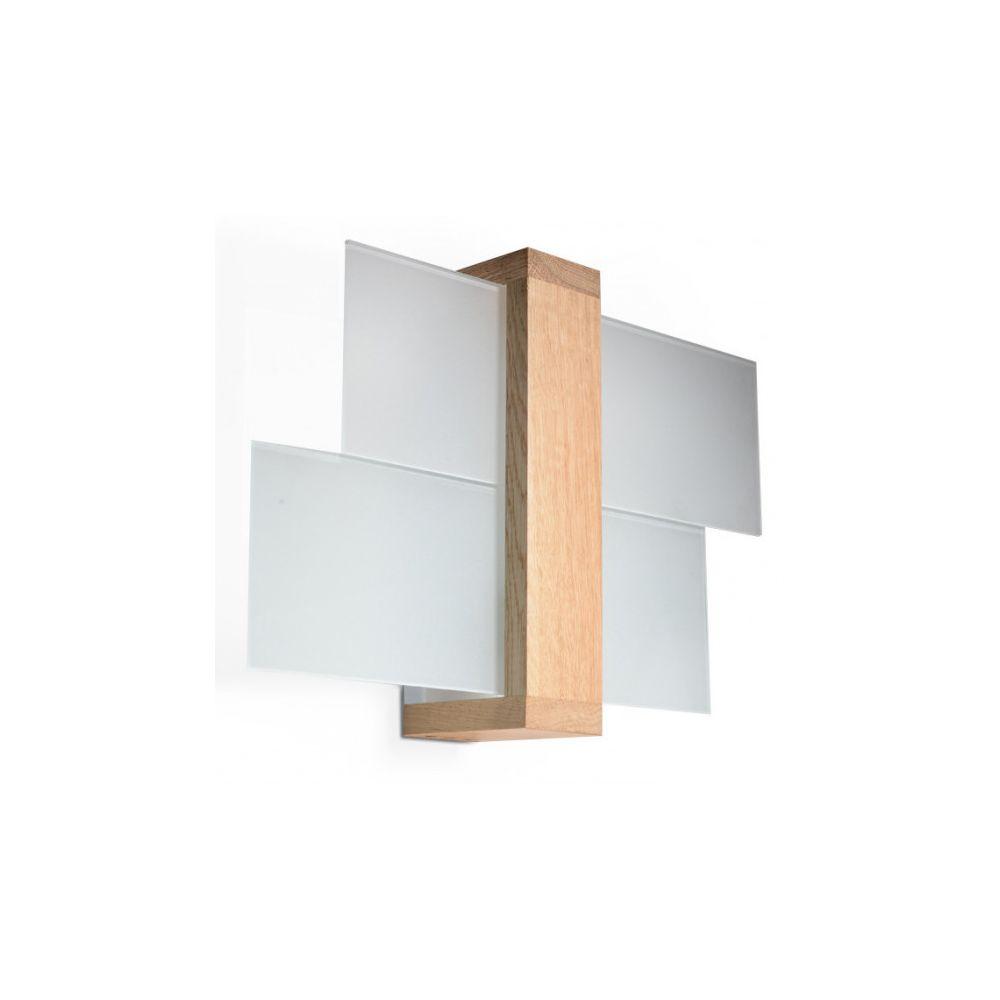 Luminaire Center Applique murale FENIKS bois/verre bois naturel 1 ampoule
