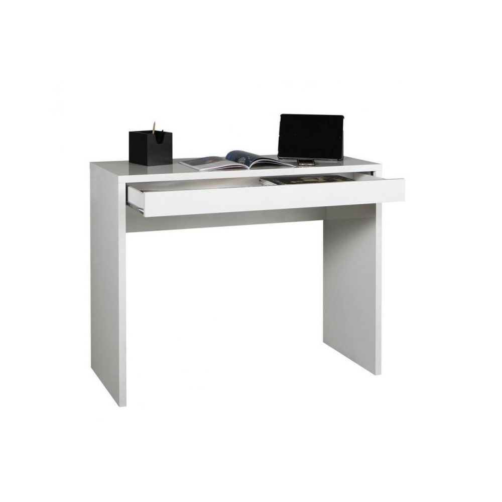 Meubletmoi Console bureau avec tiroir 100 cm - ZAC