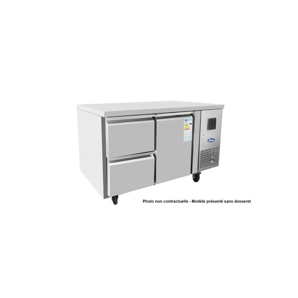 Atosa Table Réfrigérée Positive avec Dosseret 154 Litres - 1 Porte 2 Tiroirs 1/2 - Atosa - R600A 1 Porte
