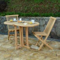 Soldes Table jardin teck pliante - 2e démarque Table jardin ...