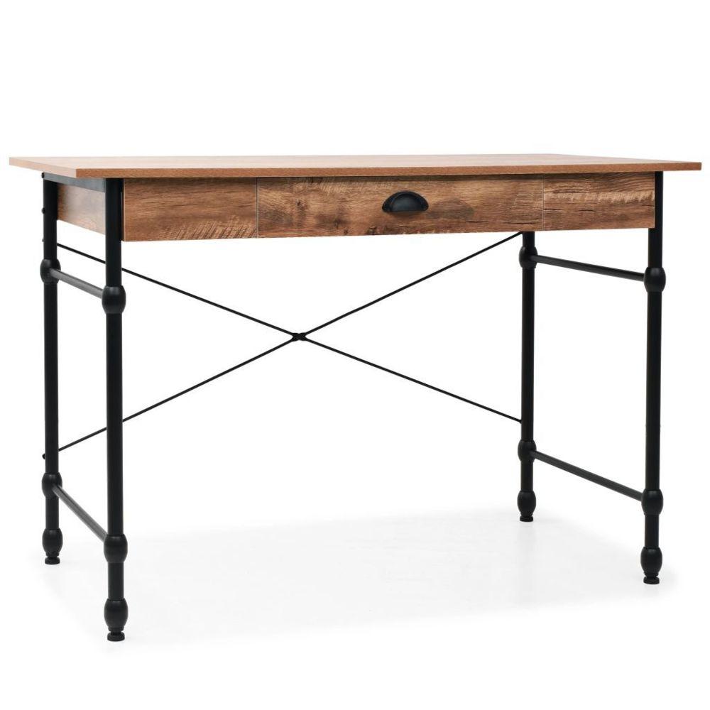 Vidaxl Bureau avec tiroir 110 x 55 x 75 cm Couleur de chêne | Brun - Meubles - Meubles de bureau - Bureaux | Brun | Brun