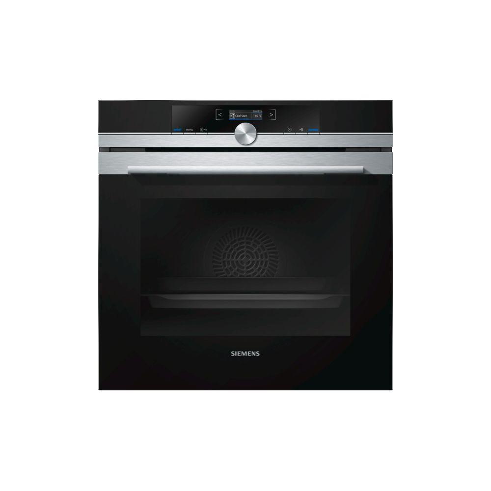 Siemens siemens - four intégrable 71l 60cm a+ pyrolyse inox/noir - hb672gbs1f
