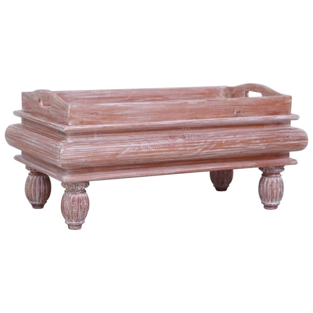 Vidaxl vidaXL Table basse Marron 90 x 50 x 40 cm Bois d'acajou massif