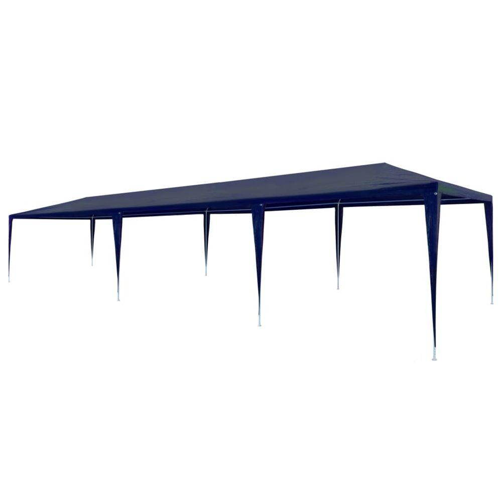 Vidaxl vidaXL Tente de Réception 3x9 m PE Bleu Tonnelle Pavillon Chapiteau de Jardin