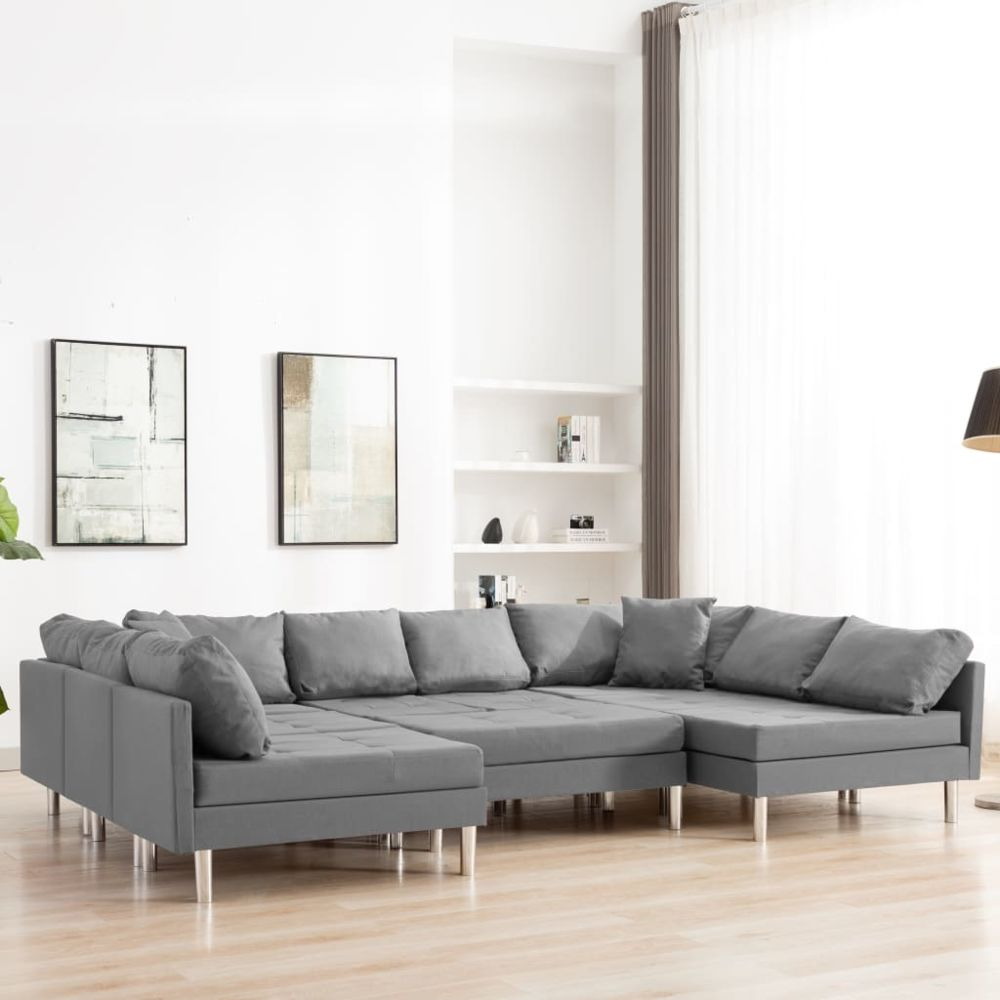 Uco UCO Canapé sectionnel Tissu Gris clair