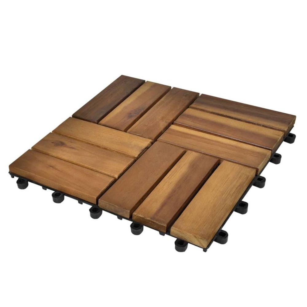 Uco Tuile de plancher en acacia 10 pcs