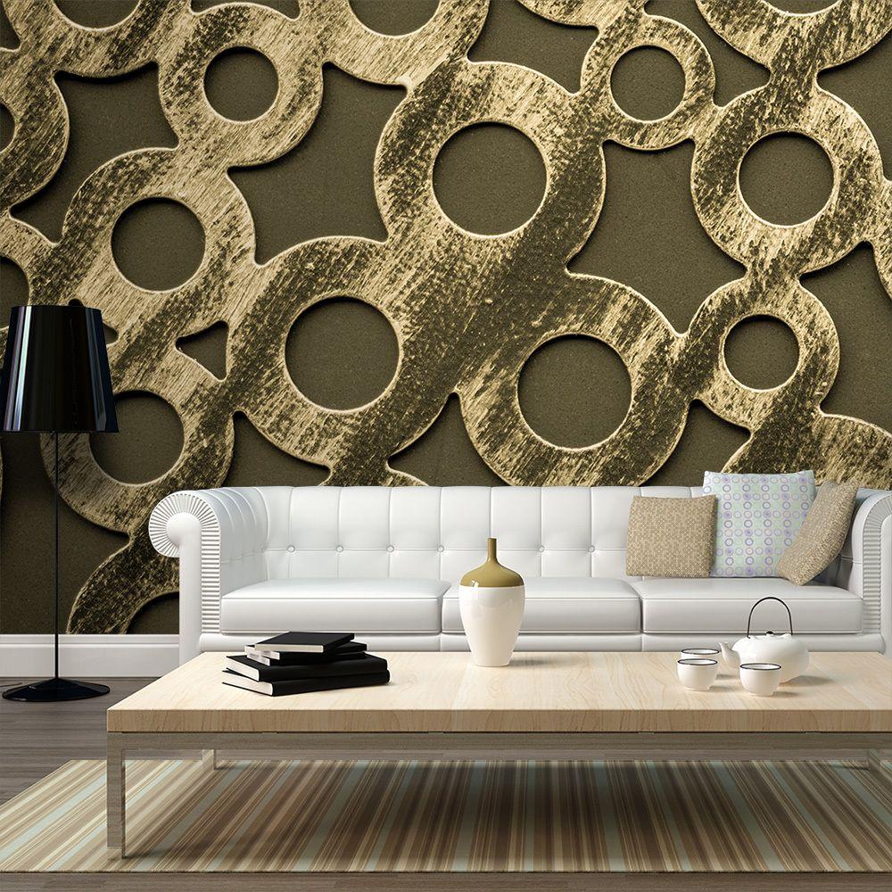Declina Papier peint XXL - Cercles en bronze