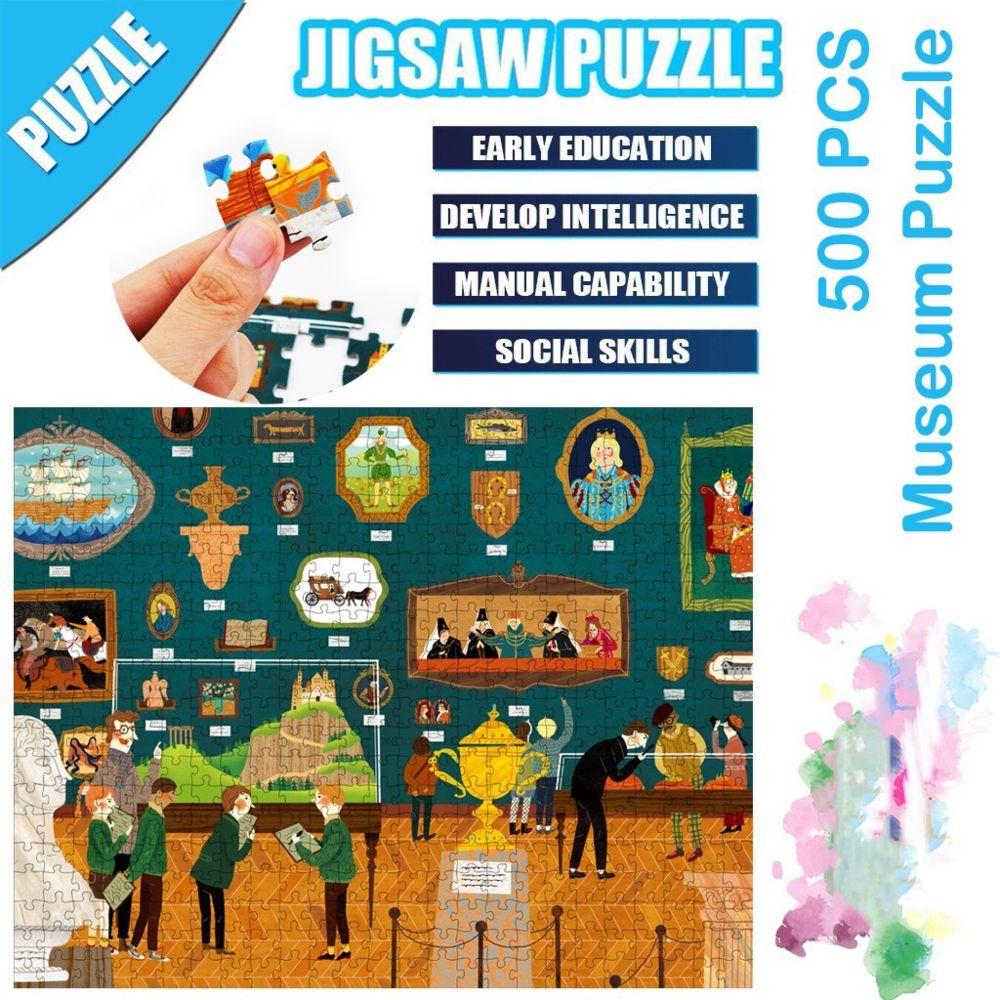 Generic Science Cartoon Museum Building Puzzle 500 pièces éducatif Puzzle Game Toys