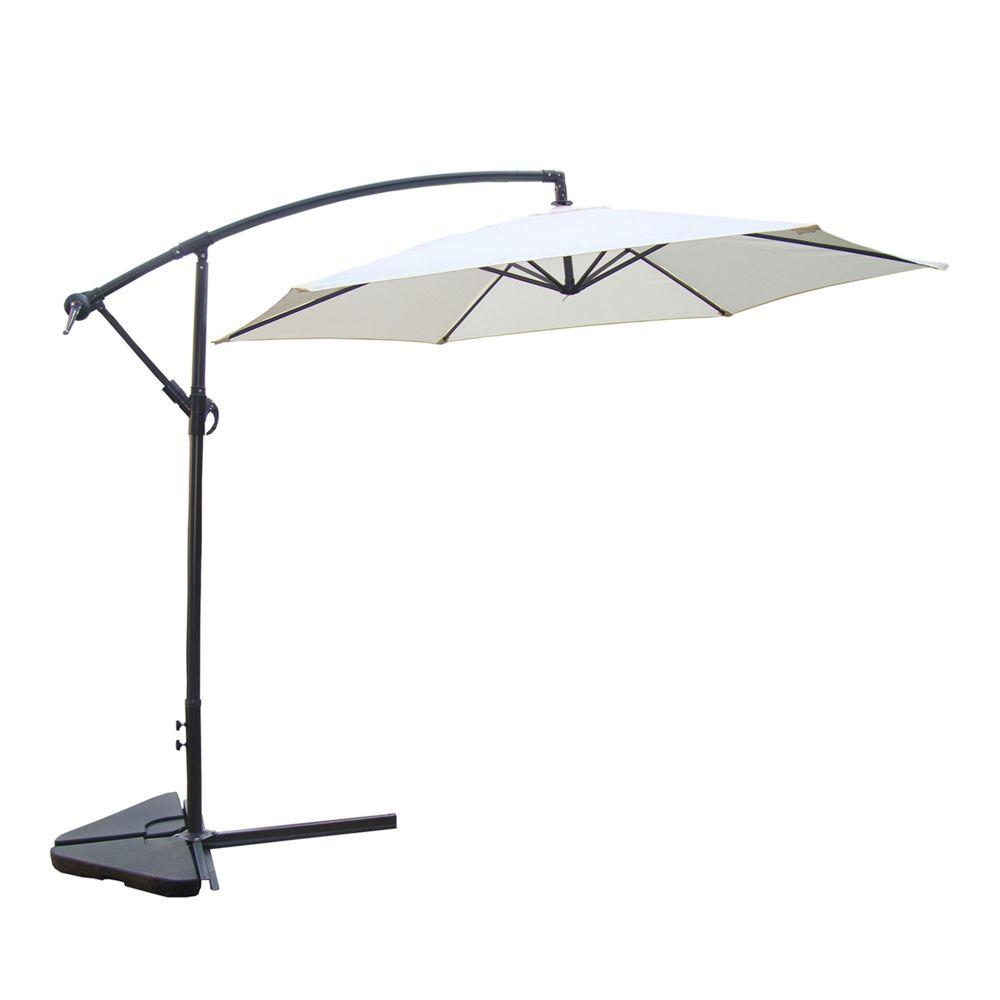 Concept Usine Porticcio écru : Parasol déporté Ø 300cm