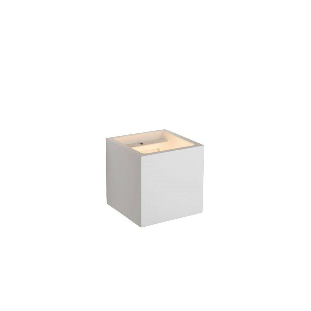Lucide GIPSY-Applique murale cubique Plâtre H11.5cm Blanc Lucide