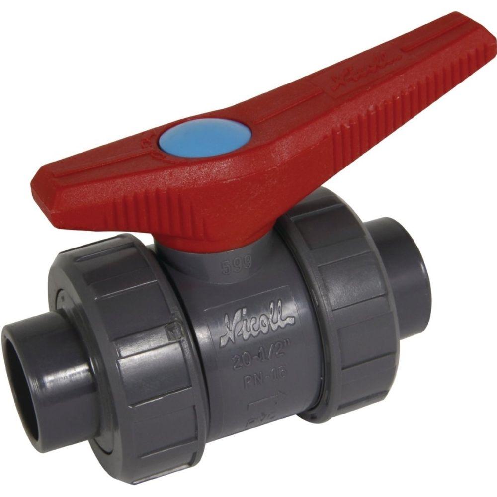 Nicoll vanne à bille - diamètre 32 mm - avec joint nbr - série h2o - nicoll vk32