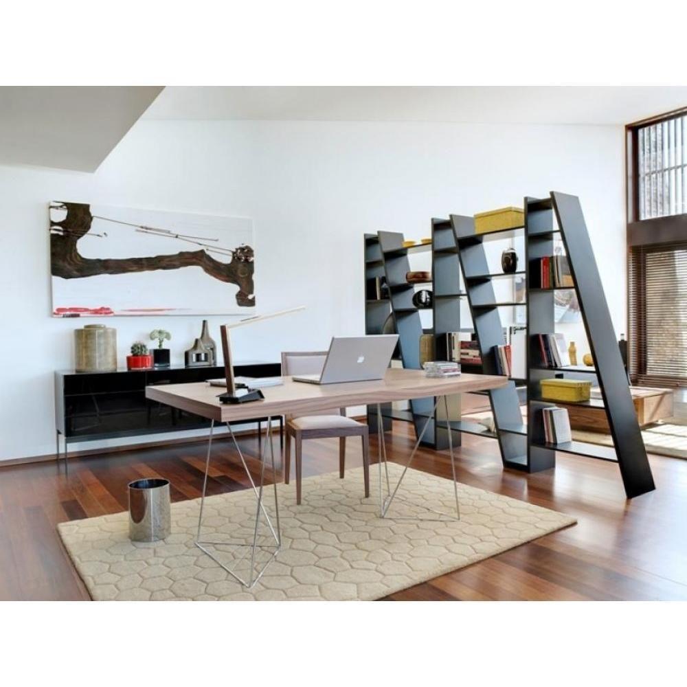 Inside 75 Bureau design TRESTLES 180 x 90 chêne