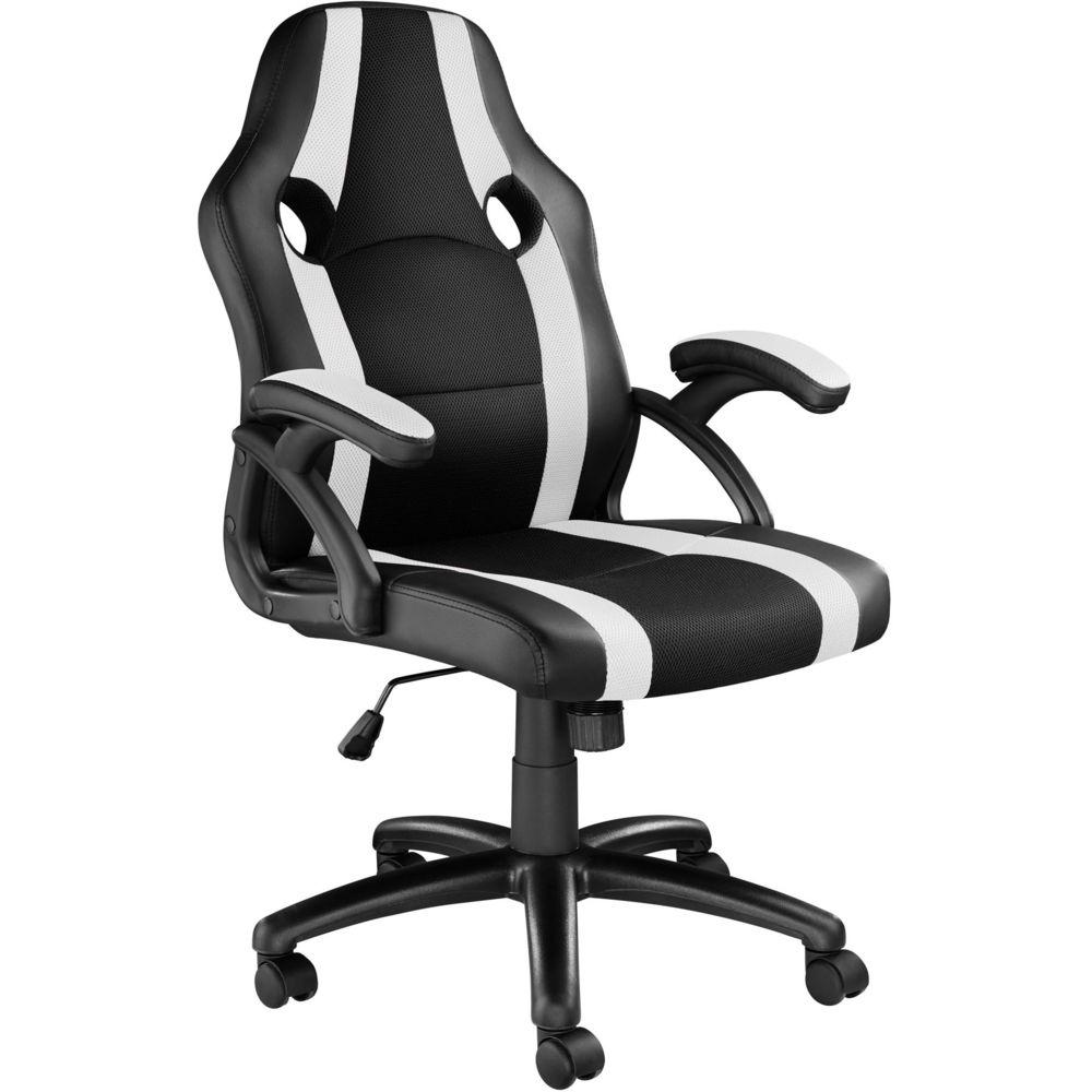 Tectake Chaise gamer BENNY - noir/blanc
