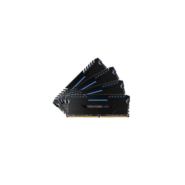 Corsair - CORSAIR Vengeance LED Series 64 Go (4x 16 Go) DDR4 3200 MHz CL16 Bleu - RAM PC