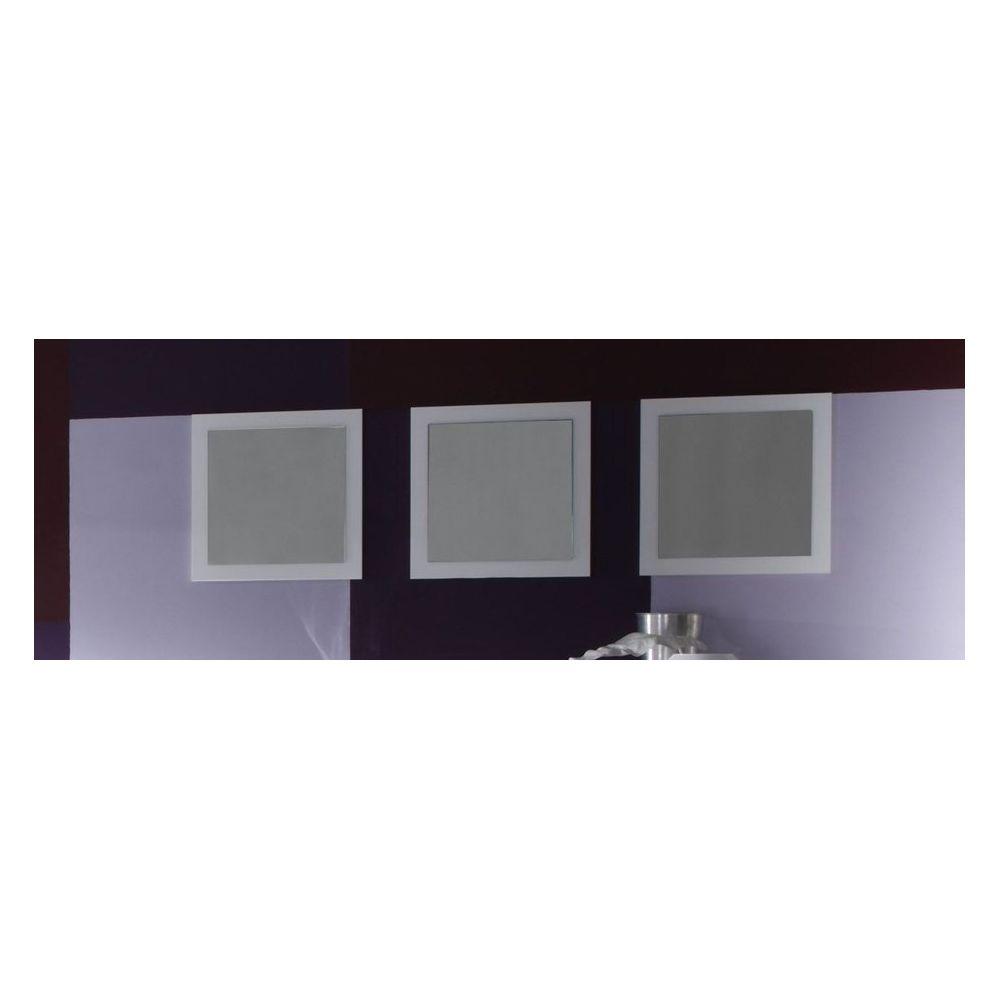 Sofamobili Miroir mural blanc laqué design ESMERALDA (lot de 3)