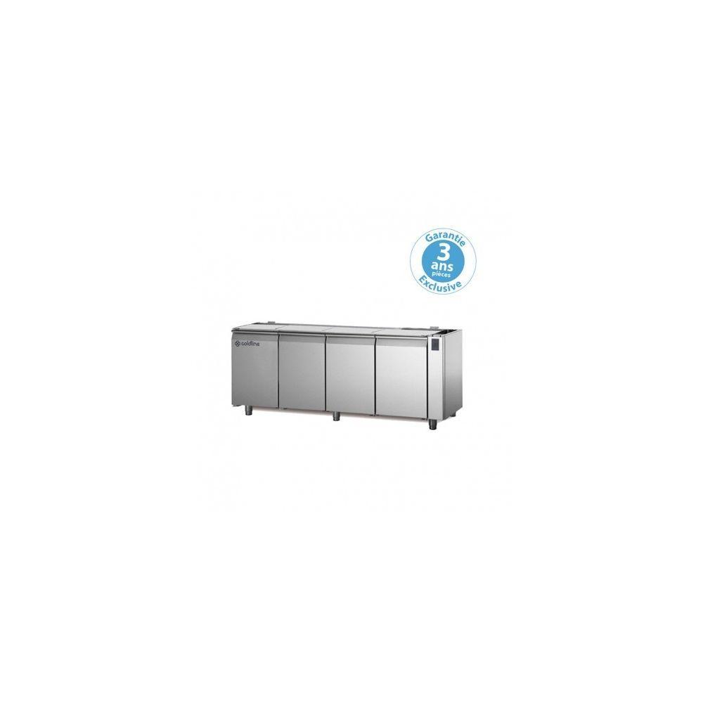Materiel Chr Pro Table réfrigérée positive - sans groupe - 4 portes - 560 litres - profondeur 800 - 600 x 400 - sans dessus -