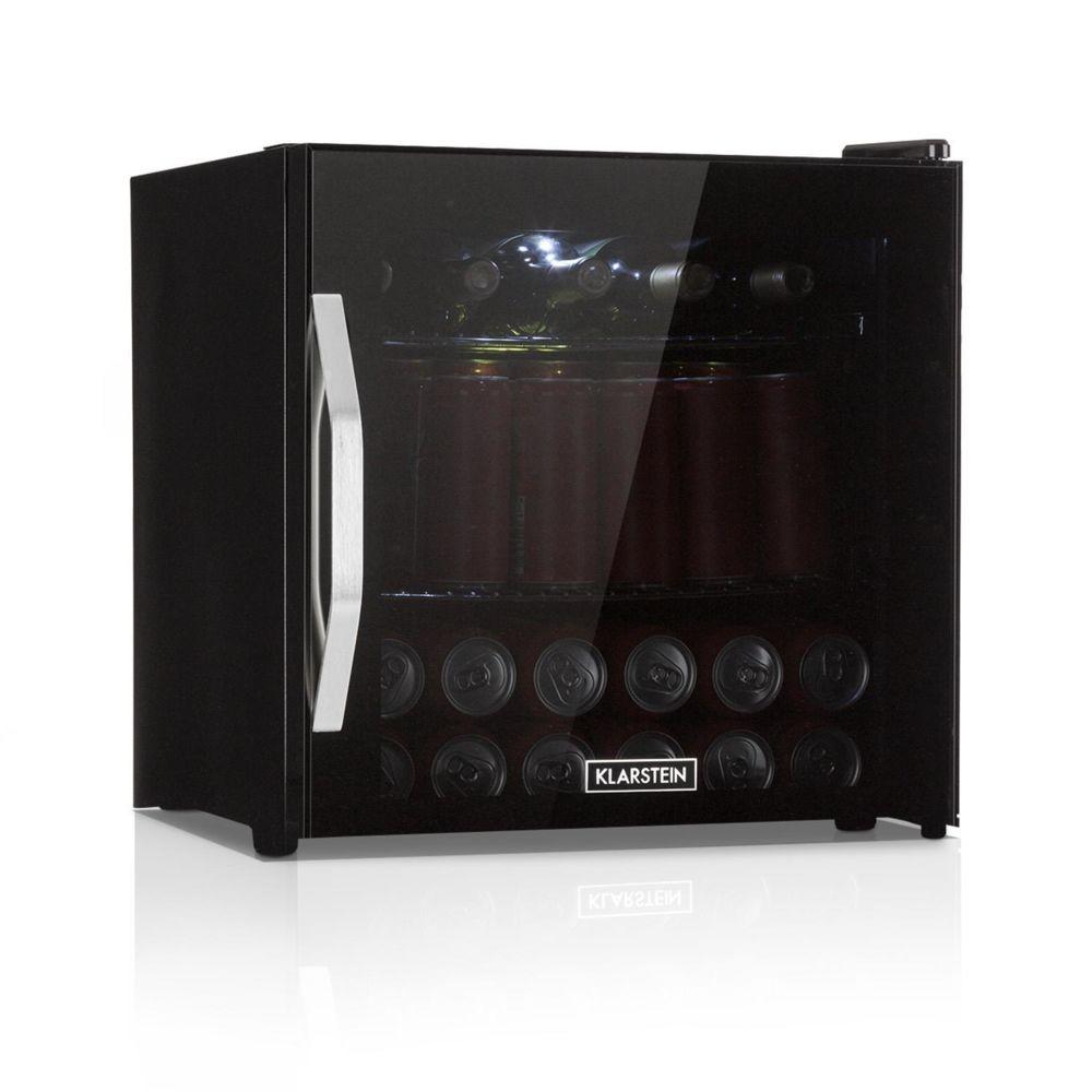 Klarstein Réfrigérateur à boissons - Klarstein Beersafe L - 47L - Minibar porte vitrée noire & cadre inox