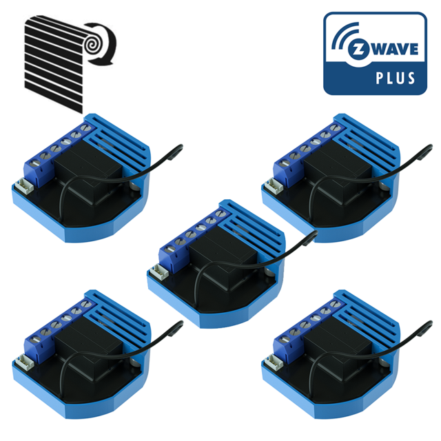 Qubino - Pack de 5 modules Volets Roulants Z-Wave Plus encastrables - QUBINO - Motorisation de volet