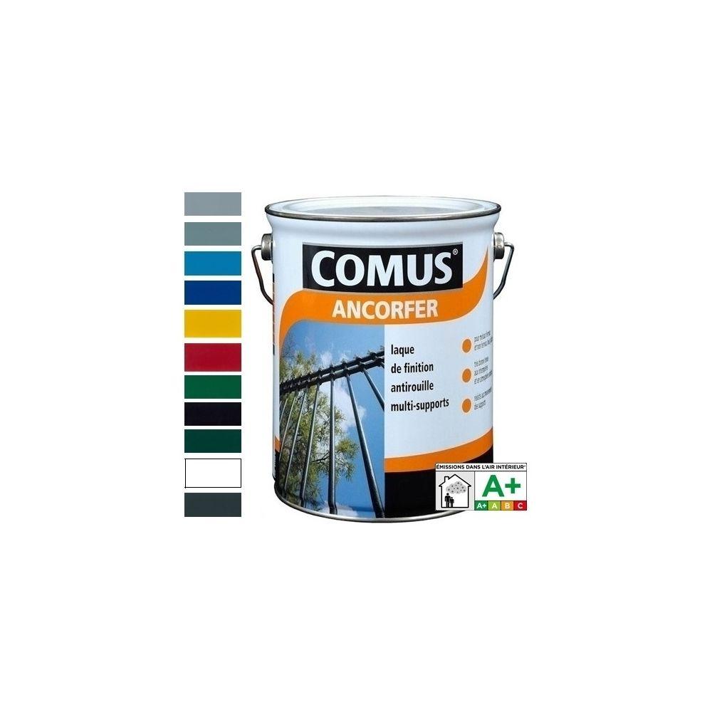 Comus ANCORFER MAT/SOIE 3L Noir ferronerie - Peinture-laque antirouille pour métaux et autres supports - COMUS