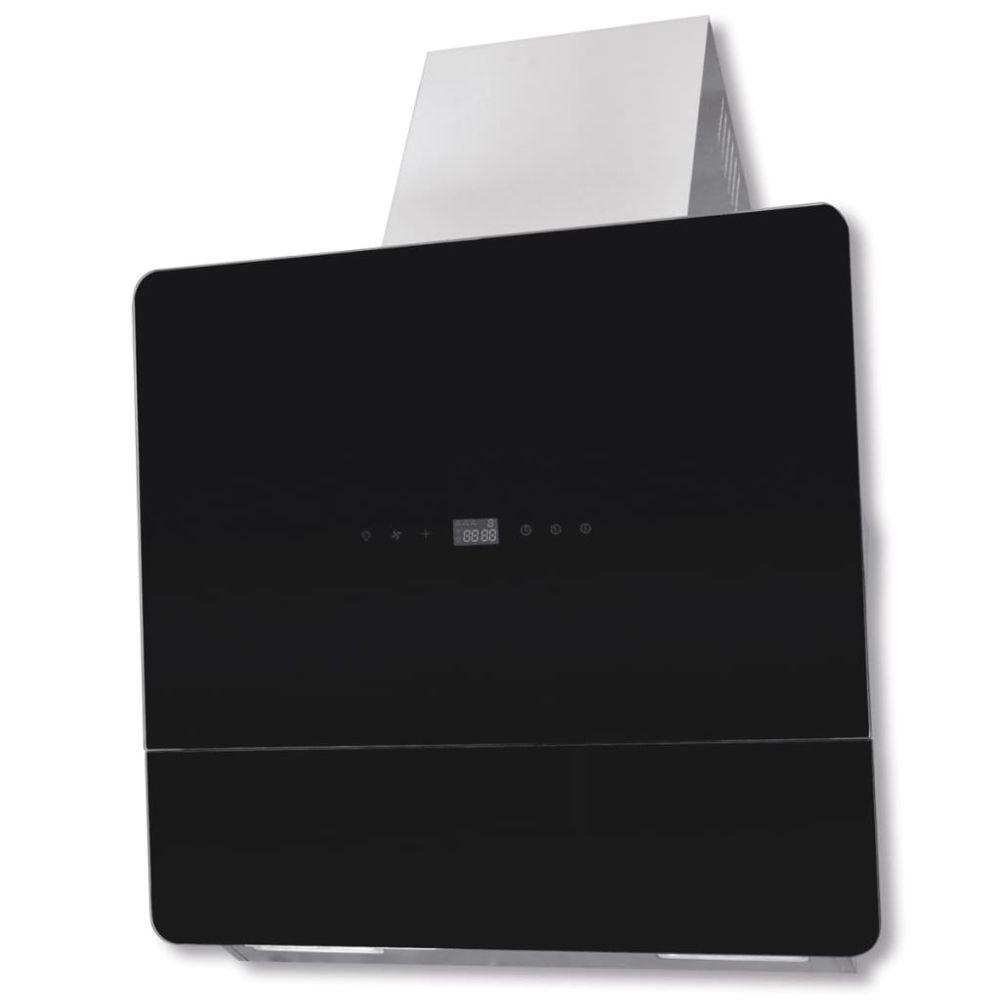 Vidaxl vidaXL Hotte en verre trempé noir avec affichage 600 mm