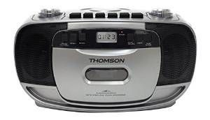 Thomson - Radio/CD/K7/MP3 - RK203CD - Noir et Gris - Chaînes Hifi