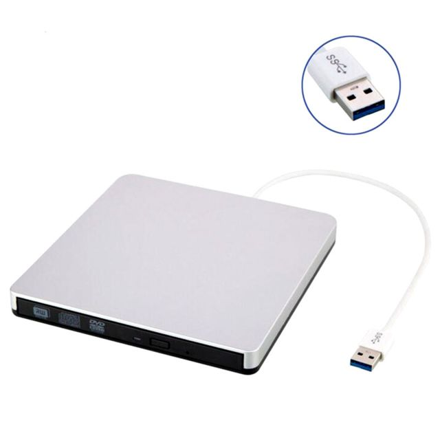 Arzopa - ARZOPA Lecteur de CD / DVD externe USB 3.0 de type Pop-up Compatible avec Windows - Argent - Graveur DVD Interne