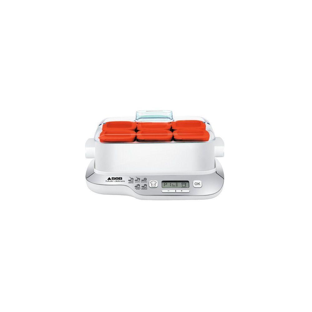 Seb Yaourtière Multi Délices Express Compact - YG660100 - Blanc/Rouge