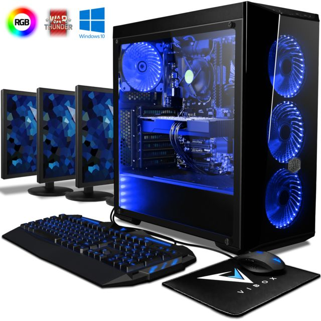 Vibox - Warrior 7W PC Gamer - Ordinateur de Bureau Gaming