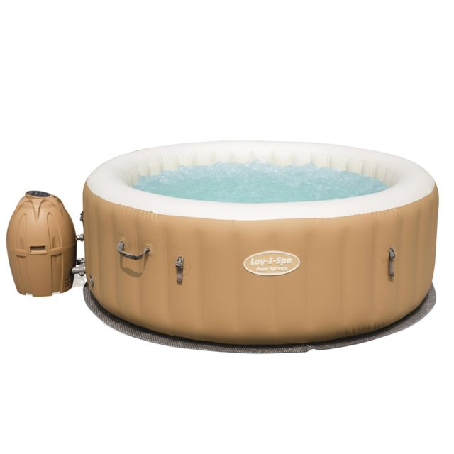 Bestway - Palm spring 4/6 places rond beige -  bulles airjets - Spa gonflable