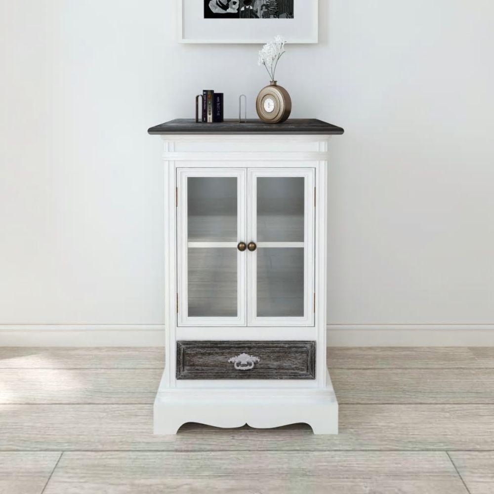 Vidaxl Armoire 2 portes et 1 tiroir Blanc Bois | Blanc