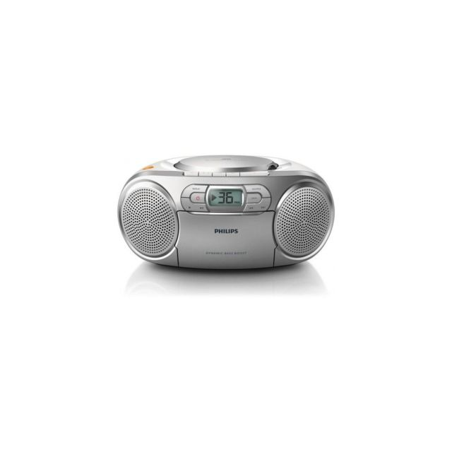 Philips - Philips Az 127/12 Radio Cd - 2 X 1 W Puissance - Cd, K7 - Platine Cassette - Silver - Philips