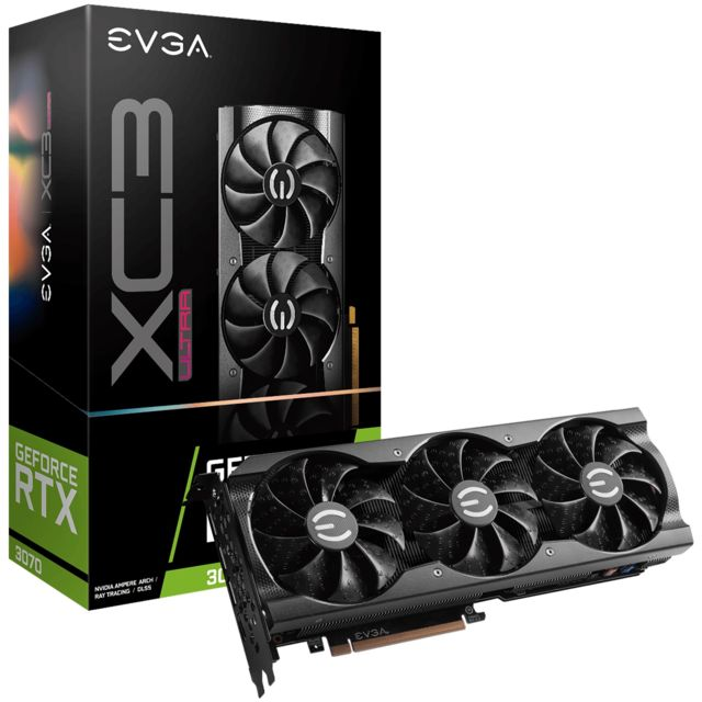 Evga - GeForce RTX 3070 XC3 ULTRA GAMING - Triple Fan - 8Go Evga   - NVIDIA GeForce RTX 3070