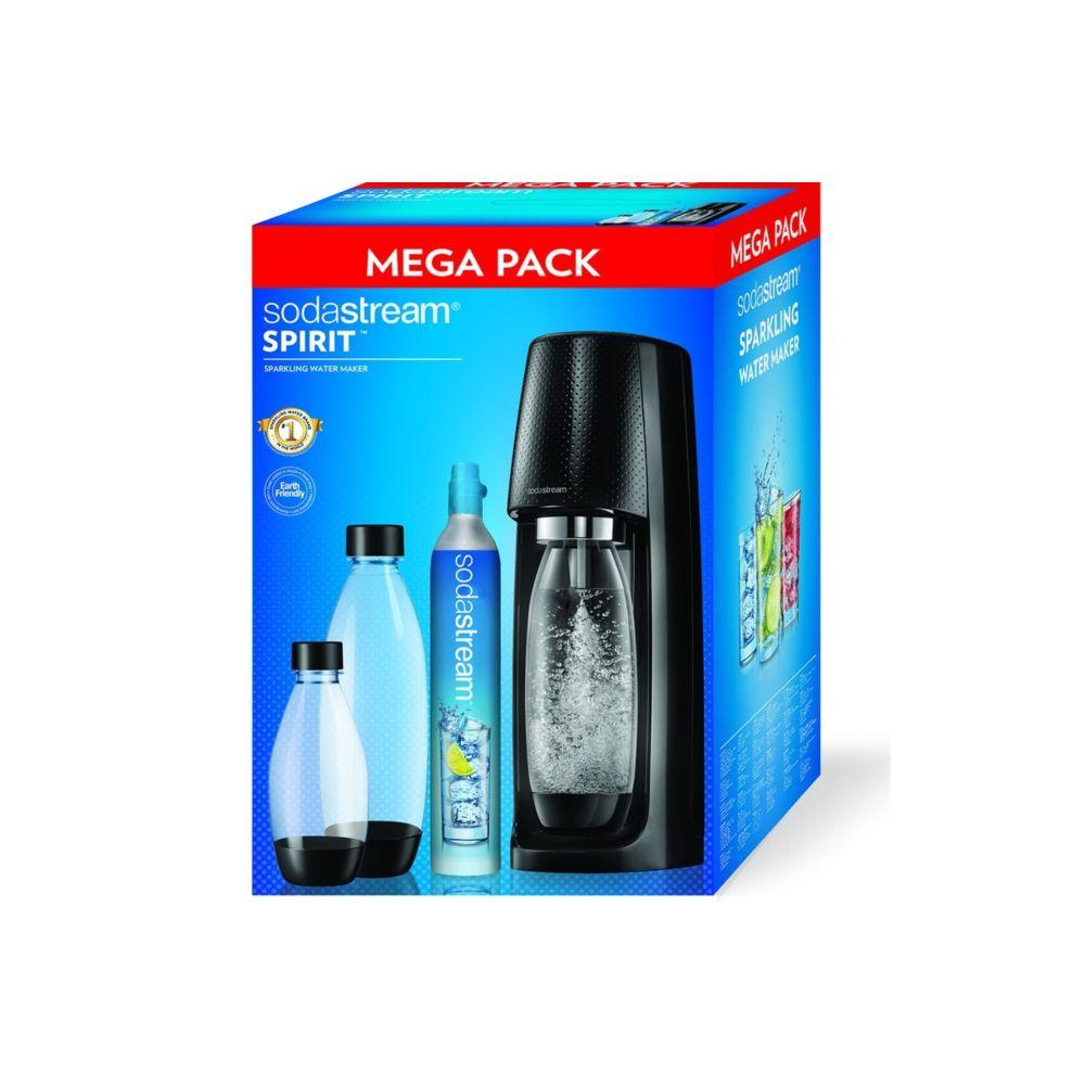 Sodastream Machine à gazéifier Mega Pack Spirit Noire - SPIRITMEGAPACKN